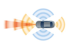 Remote Sensing System of Vehicle. Stock Images