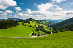 Remote settlement in the mountains of Austria Stock Photo