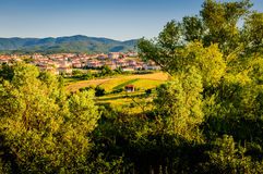 Remote Town By The Moutains Stock Images