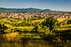 Remote Town By The Moutains Stock Photography