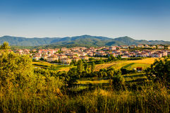 Remote Town By The Moutains Stock Image