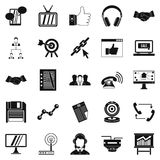 Remote transmission icons set, simple style. Remote transmission icons set. Simple set of 25 remote transmission vector icons for web isolated on white Stock Image