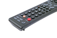Remote tv closeup. Isolated on white Royalty Free Stock Image