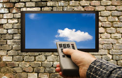 Remote tv control Royalty Free Stock Photography