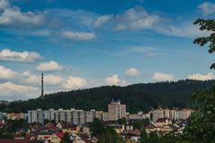 View of the municipal area of Paseky royalty free stock photos