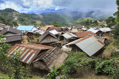 Remote village Stock Image