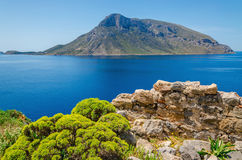 Remote vulcanic island, Greece Royalty Free Stock Images