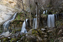 Remote waterfall in france Stock Photos