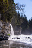 A remote waterfall on the west coast of Canada Royalty Free Stock Photos