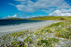 Remote White Sand Beach in Connemara in Ireland Royalty Free Stock Image