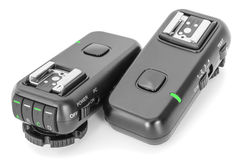 Remote wireless control radio trigger set for studio flash light stock photography