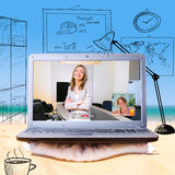 Remote work Royalty Free Stock Image
