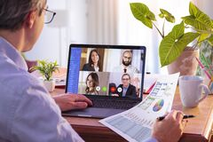 Free Remote Work - Video Conference Concept Royalty Free Stock Photos - 180411028