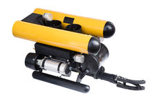 Remotely operated underwater vehicle isolated on white Royalty Free Stock Images