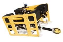 Remotely operated underwater vehicle isolated on white Royalty Free Stock Image