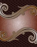 Remous abstrait de Brown Coffe de batik de couverture Photo libre de droits