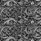 Remous blanc de noir abstrait de batik de papier peint Photographie stock libre de droits