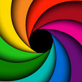 Remous coloré d'arc-en-ciel Photos stock