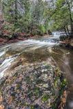 Remous de cascade photo stock