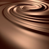 Remous de chocolat Image libre de droits