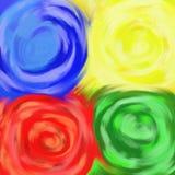 Remous de couleur illustration libre de droits