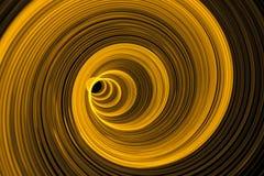 Remous de lumière jaune - abstrait Images stock