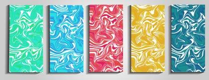 Remous de marbre ou des ondulations de l'agate Texture de marbre liquide Art liquide Applicable pour des couvertures de conceptio illustration stock