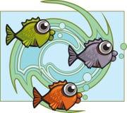 Remous de poissons Image libre de droits