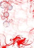 Remous de Swirly - rouge Photo stock