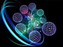 Remous des sphères de numéro illustration de vecteur