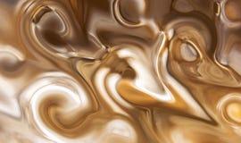 Remous et boucles de couleurs modifiées la tonalité brunes Photographie stock