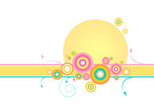 Remous et cercles Images stock