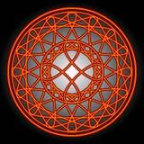Remous et cercles d'orange Images stock