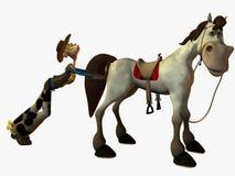 Remous et le shérif illustration libre de droits