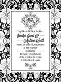 Remous floraux élégants, cadre fleuri de modèle de dentelle Image libre de droits