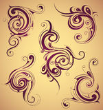 Remous floraux comme éléments de conception illustration stock