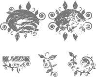 Remous grunges Illustration de Vecteur