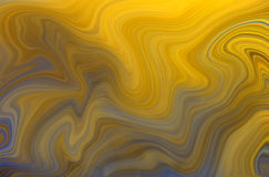Remous jaunes et de bleu Photos libres de droits