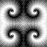Remous monochromes sans couture des rectangles Illusion optique de perspective et de volume Approprié au web design Illustration Stock
