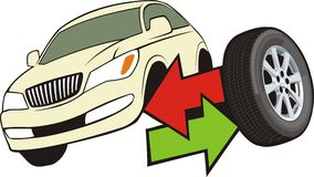 remov шиныe иллюстрация штока