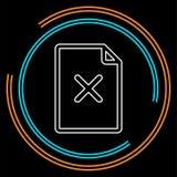 Remova o ícone de documento ilustração do vetor