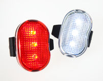 Removable Bicycle Lights Royalty Free Stock Photo