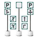 Parking sign isolated. Removable parking sign isolated on white background with clipping path stock images