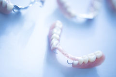 Removable partial dentures Royalty Free Stock Images