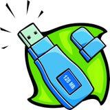 Removable USB drive. Illustration Stock Photo