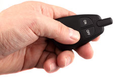 Removal of the car from the security alarm system Stock Photography