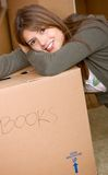 Removal girl Royalty Free Stock Images