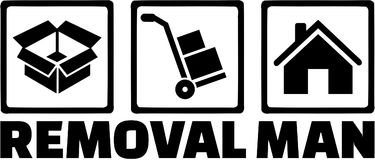 Removal man icons. Occupation vector Stock Image