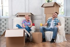 Removal is not easy thing Stock Images