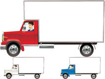 Removal trucks Royalty Free Stock Photo